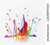 realistic ink abstract... | Shutterstock .eps vector #1265895565