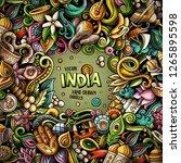 india hand drawn vector doodles ...   Shutterstock .eps vector #1265895598