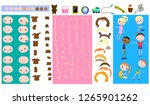parts of body template child...   Shutterstock .eps vector #1265901262