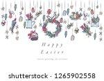 easter eggs composition....   Shutterstock .eps vector #1265902558
