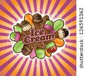 ice cream burst eps 8 vector ... | Shutterstock .eps vector #126591362
