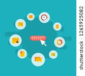 set of task manager icons flat... | Shutterstock .eps vector #1265925082
