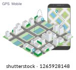 city map route navigation... | Shutterstock .eps vector #1265928148