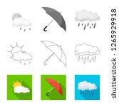 vector design of weather and... | Shutterstock .eps vector #1265929918