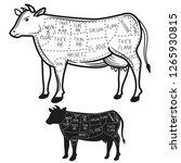british cuts of beef diagram.... | Shutterstock .eps vector #1265930815
