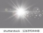 glowing lights for xmas holiday ... | Shutterstock .eps vector #1265934448
