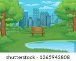 summer  spring day vector... | Shutterstock .eps vector #1265943808