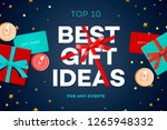 best gift ideas  discount sale... | Shutterstock .eps vector #1265948332