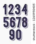set of numbers 3d bold trendy... | Shutterstock .eps vector #1265950405