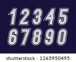 numbers set bold modern... | Shutterstock .eps vector #1265950495