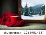 Winter Background   Cup With...