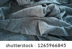 close up of gray rag. | Shutterstock . vector #1265966845