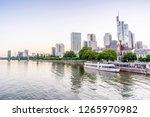 downtown of frankfurt am main... | Shutterstock . vector #1265970982