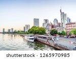 downtown of frankfurt am main... | Shutterstock . vector #1265970985