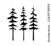 black tree silhouette vector... | Shutterstock .eps vector #1265978995