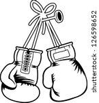 vector boxing gloves   Shutterstock .eps vector #126598652