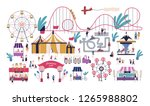 tiny people in amusement park... | Shutterstock .eps vector #1265988802
