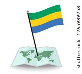 map with flag of gabon isolated ... | Shutterstock .eps vector #1265989258