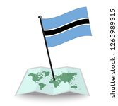 map with flag of botswana...   Shutterstock .eps vector #1265989315