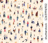 seamless pattern with tiny... | Shutterstock .eps vector #1265996902