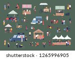 outdoor fair  market or street... | Shutterstock .eps vector #1265996905