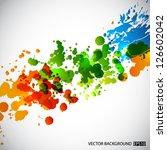 splash background. eps10 vector | Shutterstock .eps vector #126602042