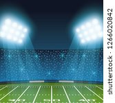 american football field | Shutterstock .eps vector #1266020842