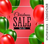 christmas sale banner. ... | Shutterstock . vector #1266024268