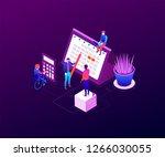 efficient planning   modern... | Shutterstock .eps vector #1266030055