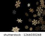 winter snowflakes border cool... | Shutterstock .eps vector #1266030268