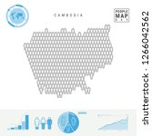cambodia people icon map.... | Shutterstock .eps vector #1266042562