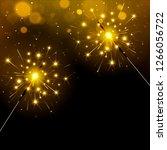 festive sparkly bengal lights... | Shutterstock . vector #1266056722