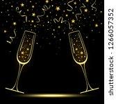 congratulatory banner with... | Shutterstock . vector #1266057352