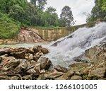 landscape view of waterfall in... | Shutterstock . vector #1266101005