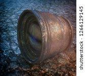 3d rendering of beaten down and ... | Shutterstock . vector #1266129145