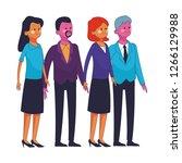 group of friends cartoon   Shutterstock .eps vector #1266129988