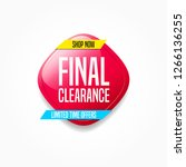 final clearance shop now label | Shutterstock .eps vector #1266136255