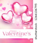 valentine's day design template ... | Shutterstock .eps vector #1266136795