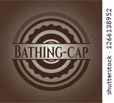 bathing cap wood icon or emblem | Shutterstock .eps vector #1266138952