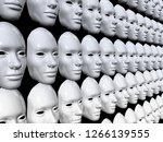 Array Of White Masks  Identity...