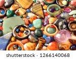 close up of semi precious... | Shutterstock . vector #1266140068