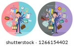 a set of man who perform... | Shutterstock .eps vector #1266154402