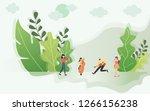 merry christmas background on... | Shutterstock .eps vector #1266156238