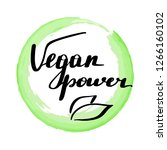 lettering inscription vegan... | Shutterstock . vector #1266160102