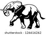 elephant black and white... | Shutterstock .eps vector #126616262