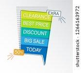 modern sale banner. | Shutterstock .eps vector #1266163972