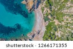 aerial drone overhead view of... | Shutterstock . vector #1266171355
