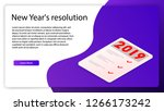 new year's resolution... | Shutterstock .eps vector #1266173242