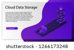 isometric cloud data storage... | Shutterstock .eps vector #1266173248