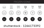 frozen icons set. collection of ... | Shutterstock .eps vector #1266173392